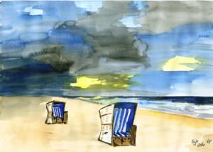 Sylt Strand (2007) Aquarell
