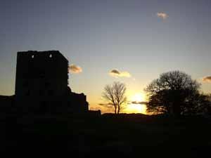 Hammershus Sonnenuntergang