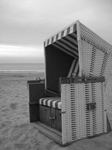 Sylt Strandkorb schwarzweiß