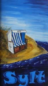 Sylt Strandkorb (2009) Acryl