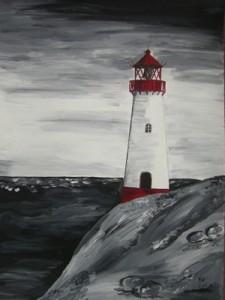 Sylt schwarzweiß (2009) Acryl