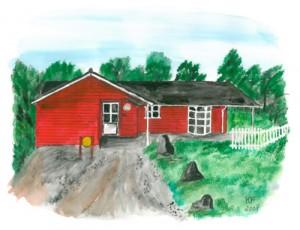 Blavand Ferienhaus (2008) Aquarell