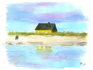 Blavand Strand (2008) Aquarell