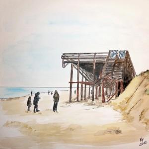 Sylt Kampen Strand Sandverlust