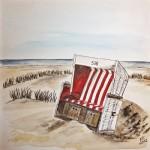 Sylt Strandkorb am Strand
