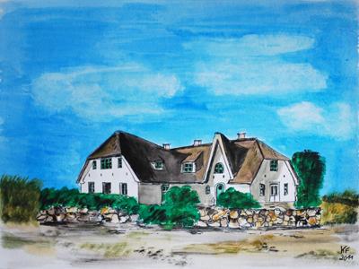 Sylter Friesenhaus, Reetgedecktes Haus
