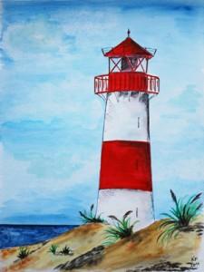 Sylt List Leuchtturm am Strand