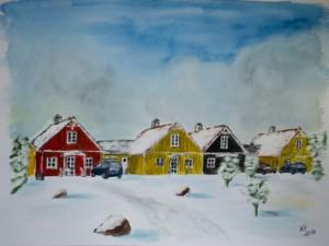 Blavand (Dänemark) Ferienhäuser im Schnee