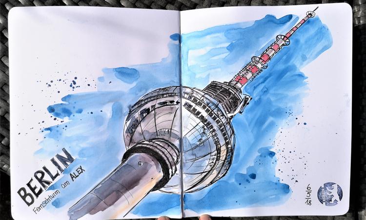 Berlin_Urban-Sketching_Fernsehturm