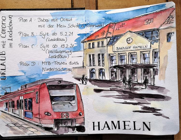 Hameln_Bahnhof_S-Bahn_Skizzenbuch