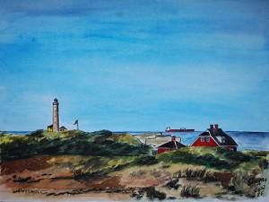 Skagen-Leuchtturm-Duenen