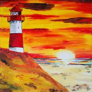 Sylt-Leuchtturm-List-Sonnenuntergang