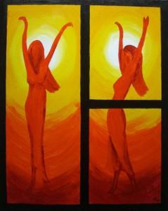 Tänzerinnen orange