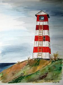 Vorupör Leuchtturm (2009) Aquarell